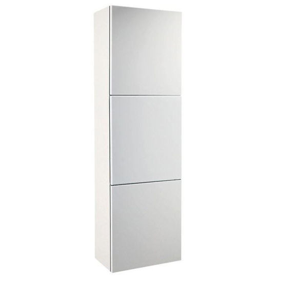 Picture of Fresca White Bathroom Linen Side Cabinet w/ 3 Large Storage Areas