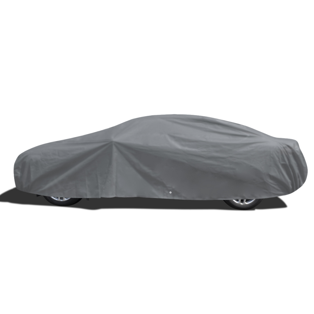 Picture of Full Car Cover Nonwoven Fabric Clean Vehicle Dust Water Resistant - XXLarge Gray