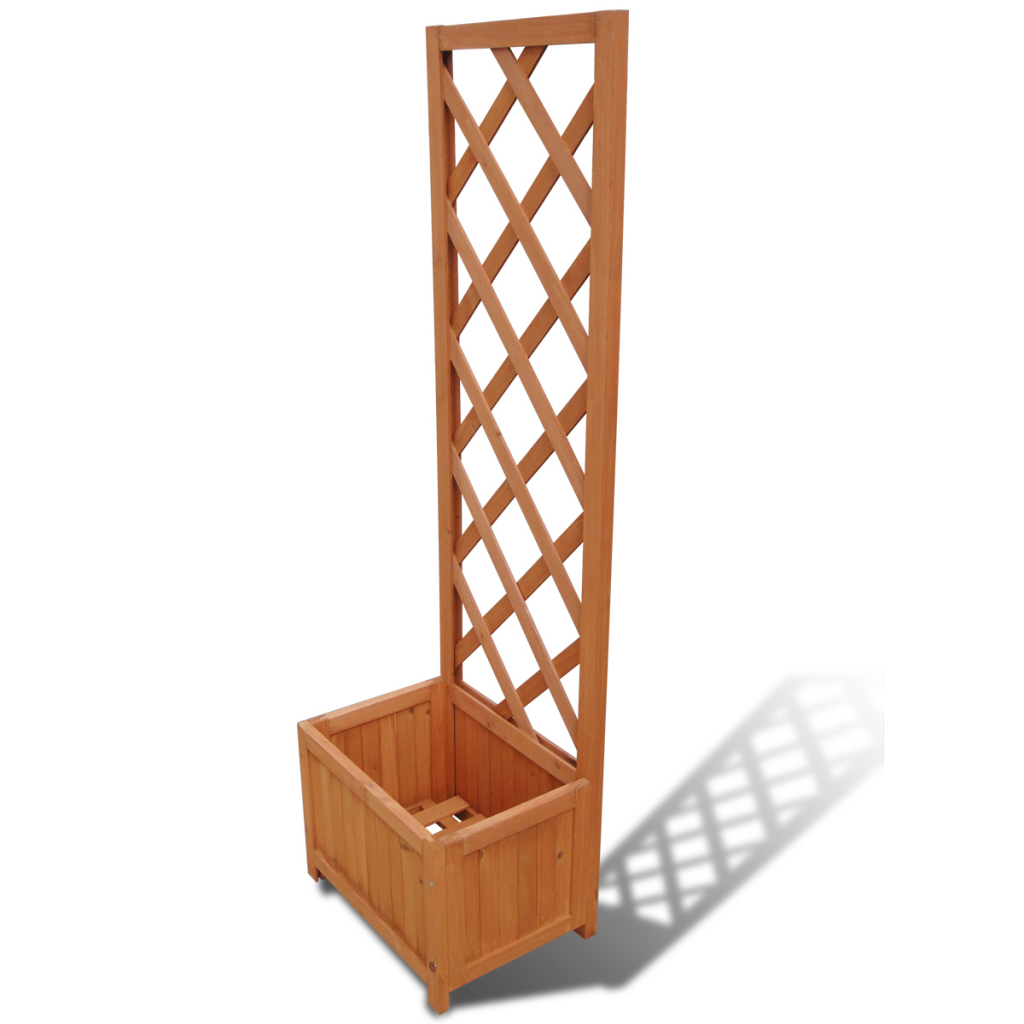"Picture of Garden Patio Trellis Planter 1' 4"" x 11.8"" x 4' 5"""
