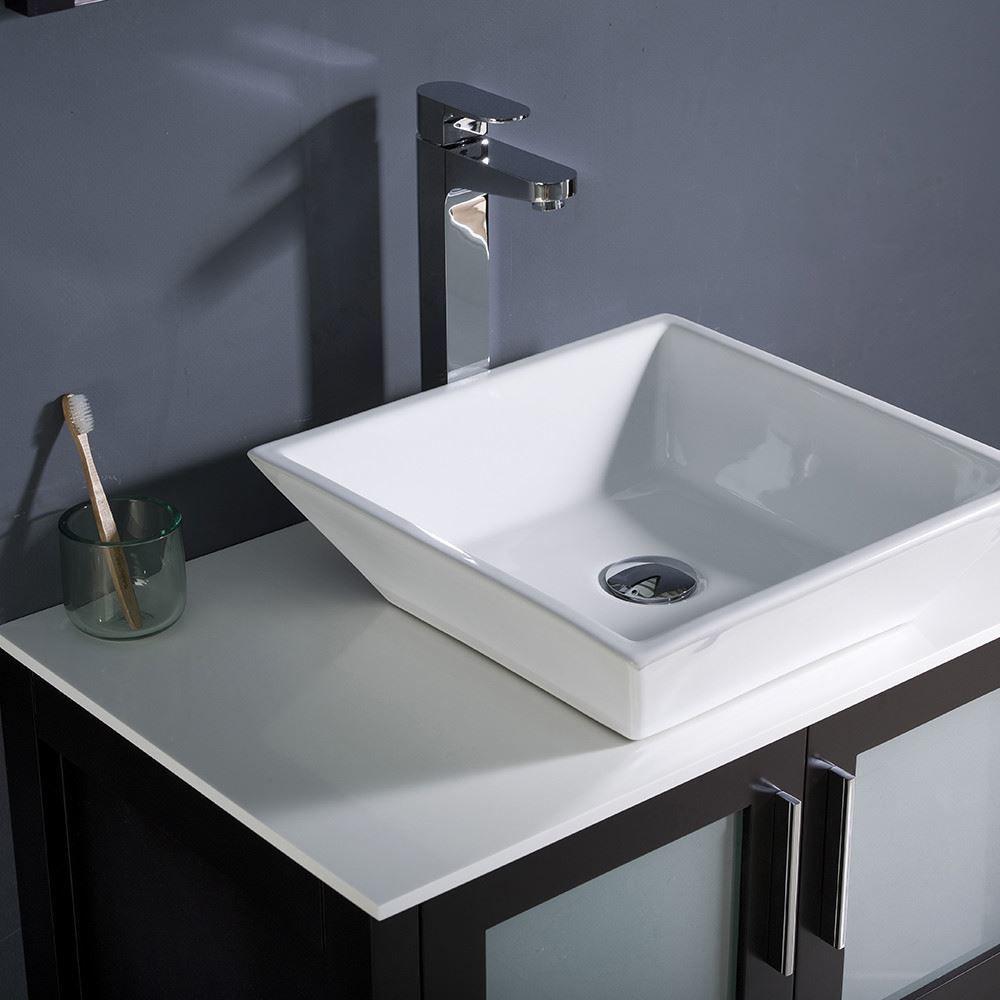 "Picture of Fresca Torino 30"" Espresso Modern Bathroom Vanity w/ Vessel Sink"