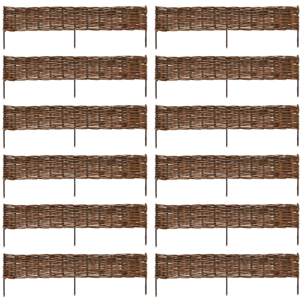 Picture of Garden Willow Border Fence 12 pcs 4' x 1'