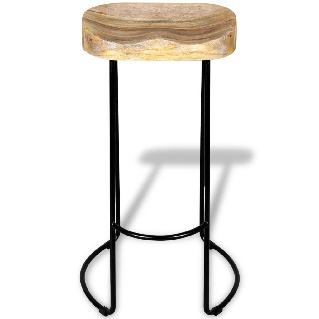 Picture of Gavin Bar Stools 2 pcs Solid Mango Wood