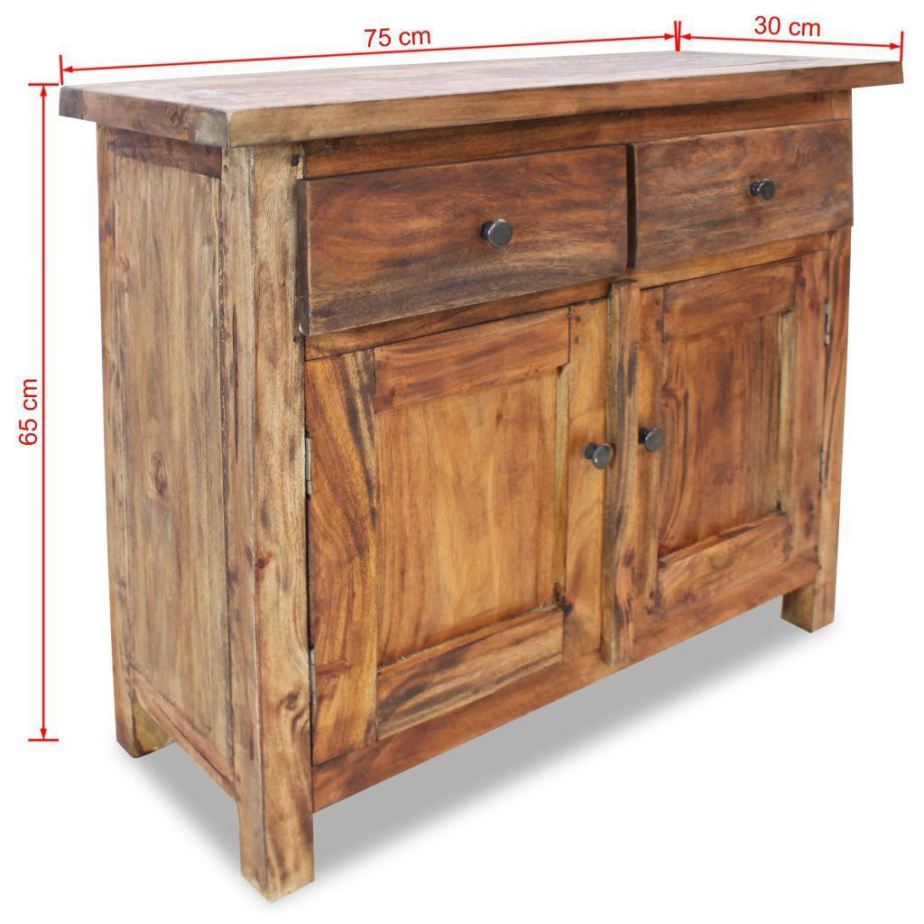 Picture of Hallway Storage Cabinet Sideboard Solid Reclaimed Wood 29""