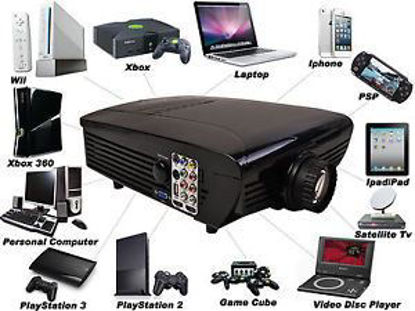Picture of HD Home Theater Multimedia LCD Projector 1080-HDMI TV DVD Paystation