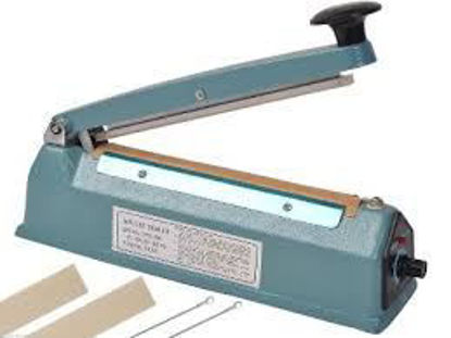"Picture of Heat Sealing Impulse Manual Sealer Machine Poly Tubing Plastic Bag 2X Teflon - 8"""