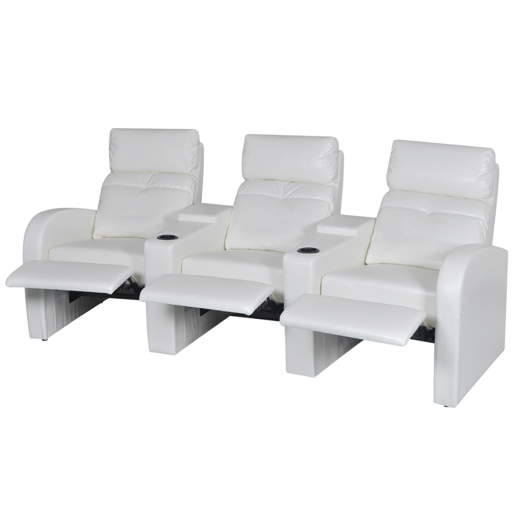 Picture of Home Cinema Recliner Reclining Sofa 3-seat - White