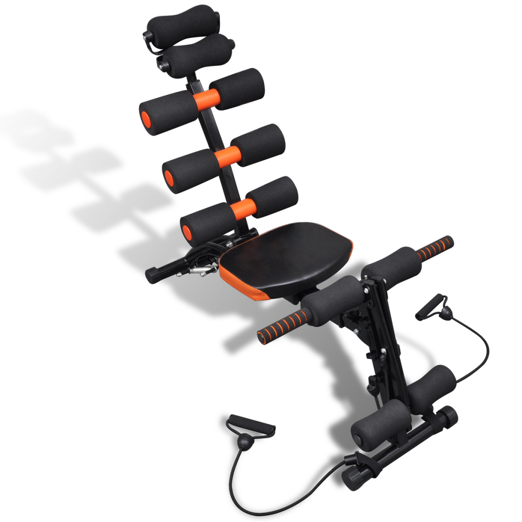 Picture of Home Gym Abdominal Exercise Adjustable L-shaped Abdominal Trainer with Resistance Straps