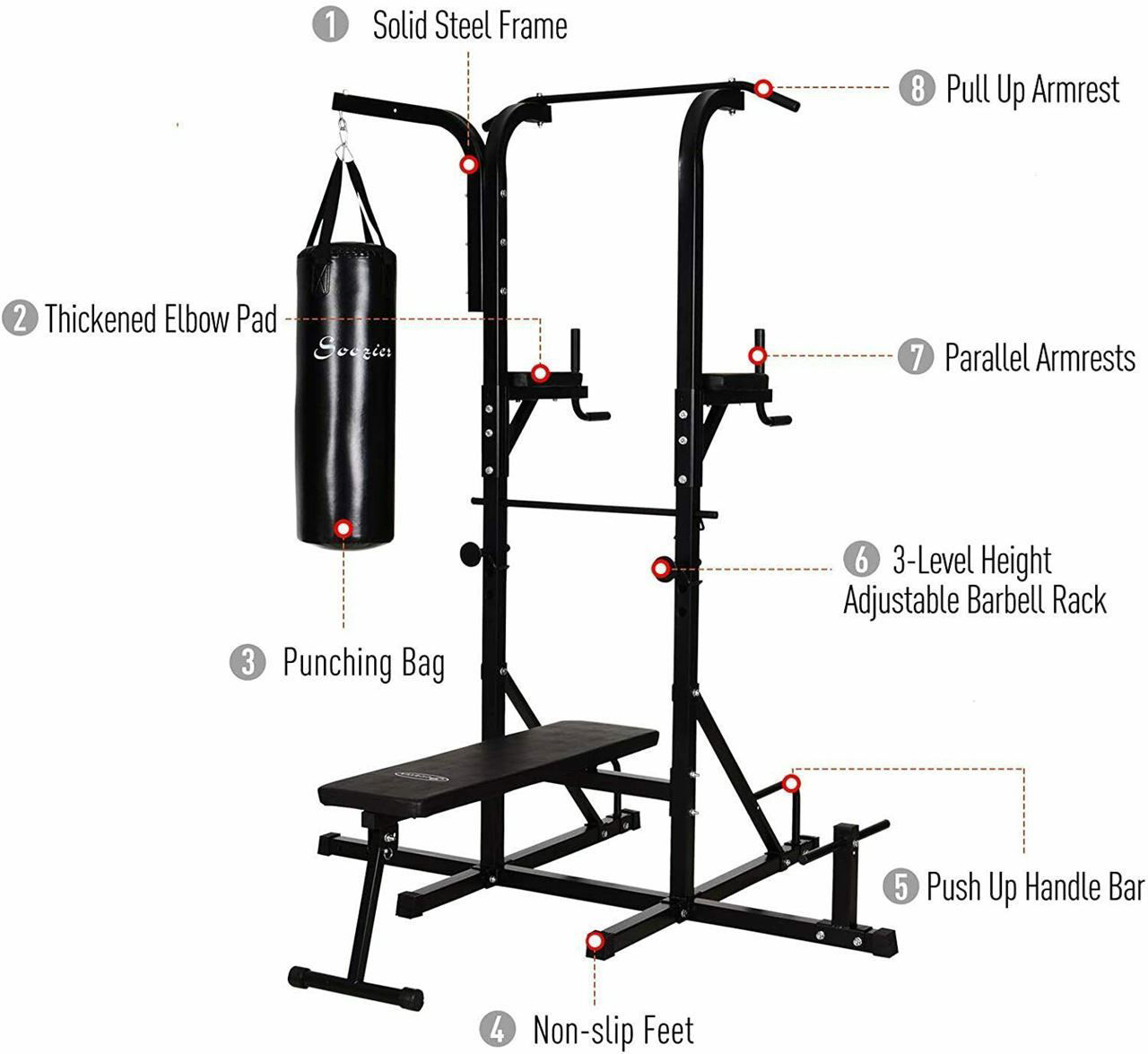 Picture of Home Gym Multi-Function Power Tower