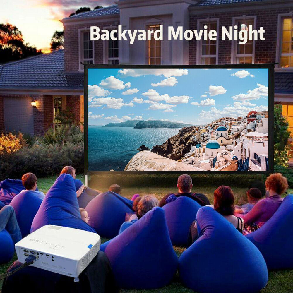 """Picture of Home Theater 4K 3D 120"""" 16:9 Portable Movie Projector Screen"""
