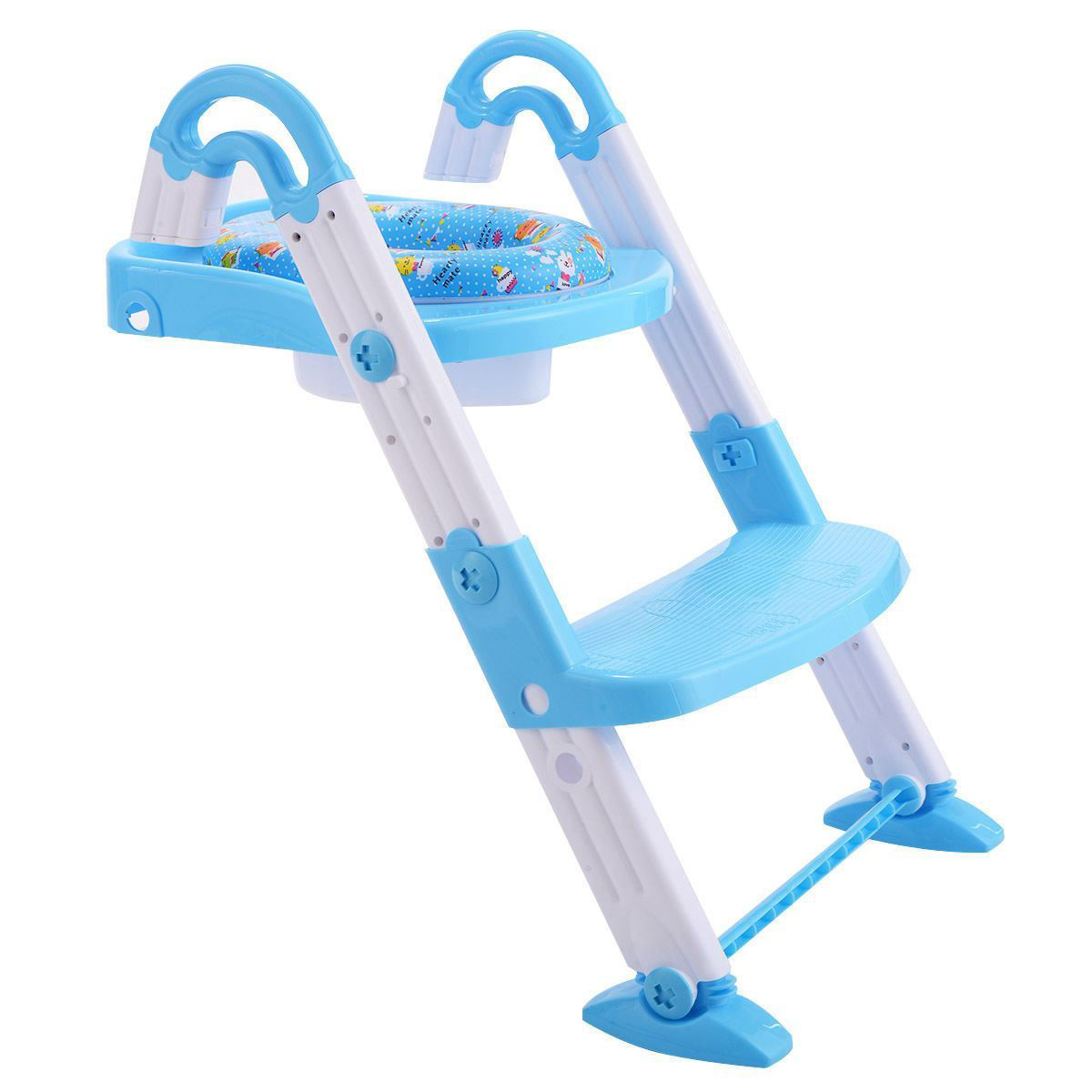 Picture of Kid's 3 in 1 Toilet Potty Training Chair Seat Step Ladder Blue
