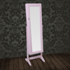 Picture of Jewelry Cabinet with Mirror Free Standing - Pink