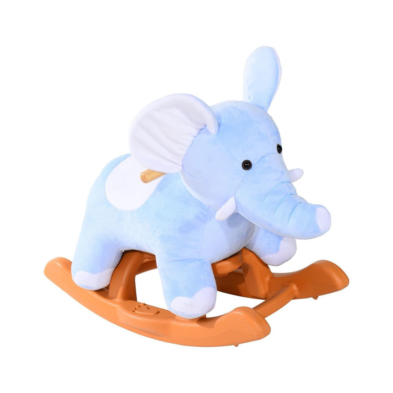 Picture of Kids Plush Rocking Horse-Style Elephant Rocker Chair