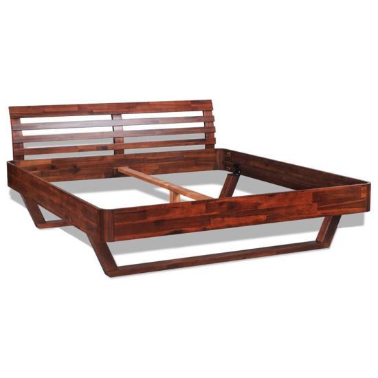 Picture of King Size Bed Frame Solid Acacia Wood