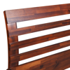 Picture of King Size Bed Frame with Cabinets - Solid Acacia Wood