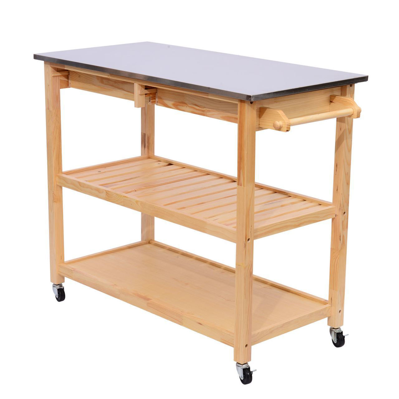 Picture of Kitchen Cart Trolley Stainless Steel Top - 44""
