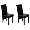Picture of Kitchen Dining Chairs - Black 2 pcs