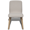 Picture of Kitchen Dining Chairs Fabric Oak - 4 pcs Beige