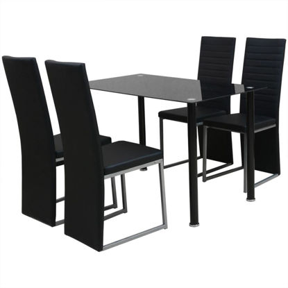 Picture of Kitchen Dining Set 5 pcs - Black