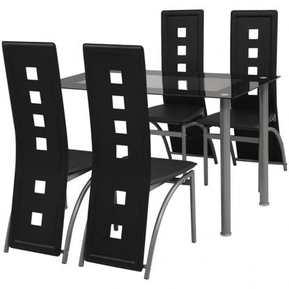 Picture of Kitchen Dining Set 5pc - Black