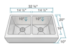 Picture of Kitchen Double Equal Bowl Apron Sink