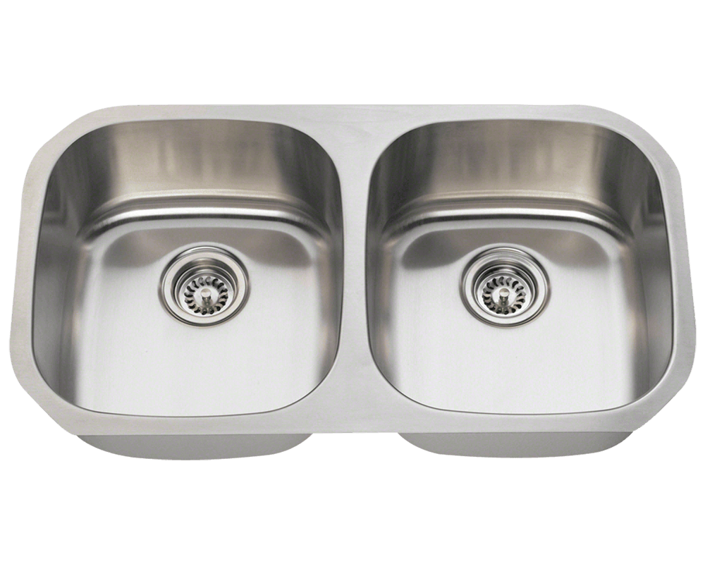 Picture of Kitchen Equal Double Bowl Stainless Steel Sink