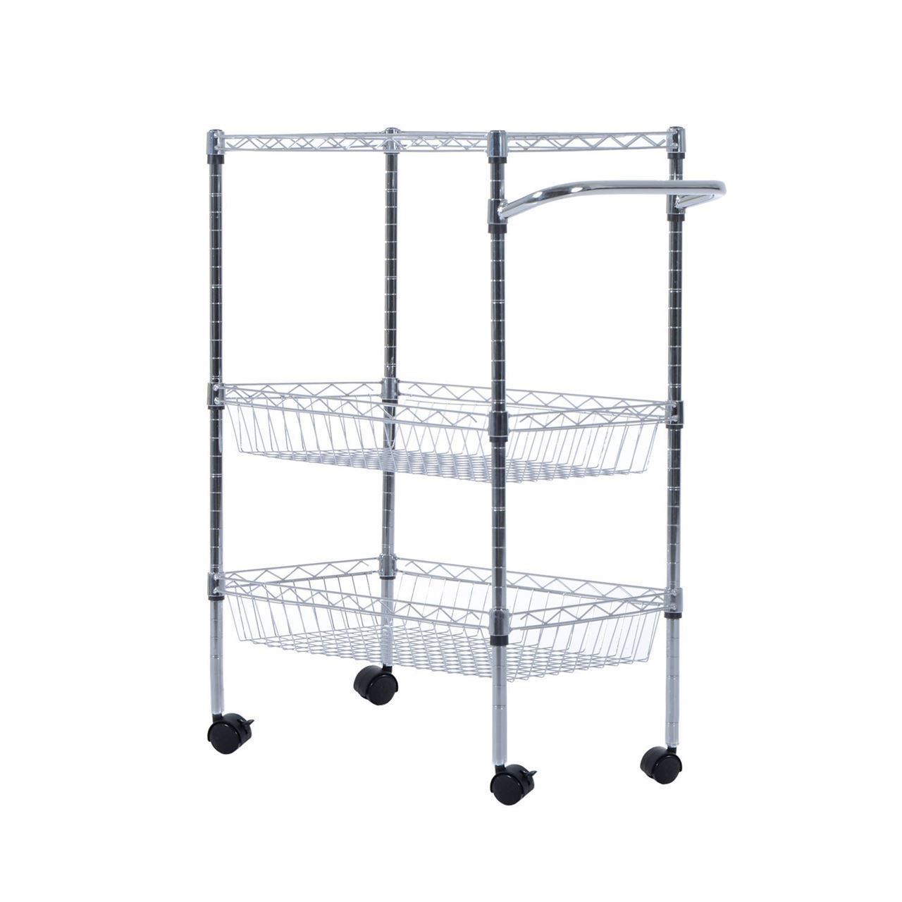 Picture of Kitchen Rolling Trolley Cart Storage  with - 24""
