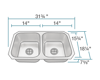 Picture of Kitchen Sink Double Bowl Stainless Steel