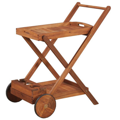 Picture of Kitchen Trolley - Solid Acacia Wood