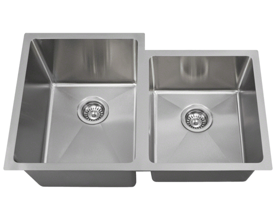 "Picture of Kitchen Undermount Single Bowl Sink Offset 3/4"" Radius"