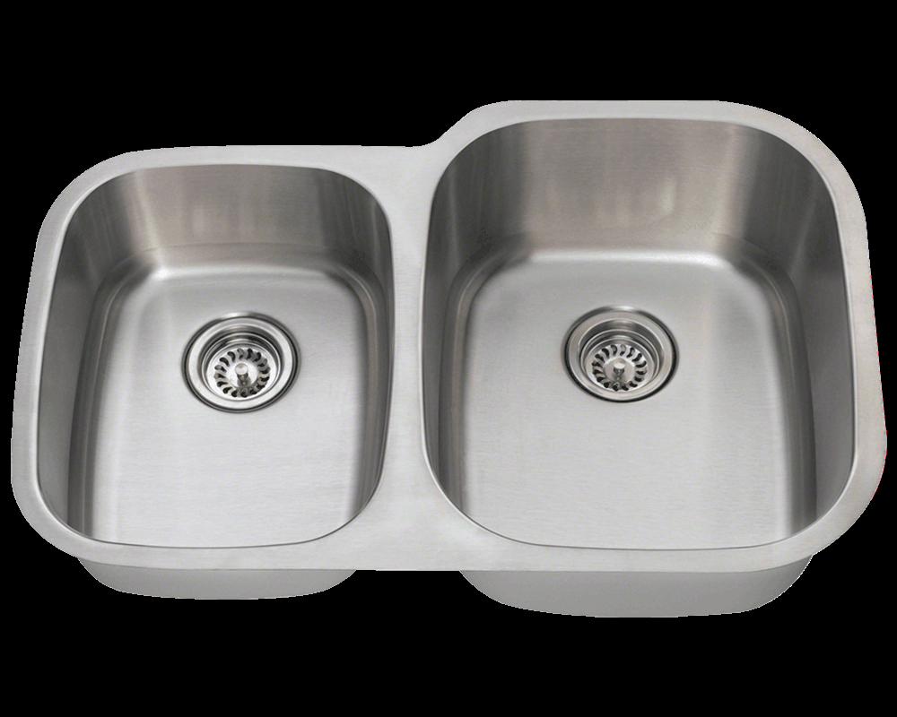Picture of Kitchen Undermount Sink Reverse Offset Stainless Steel