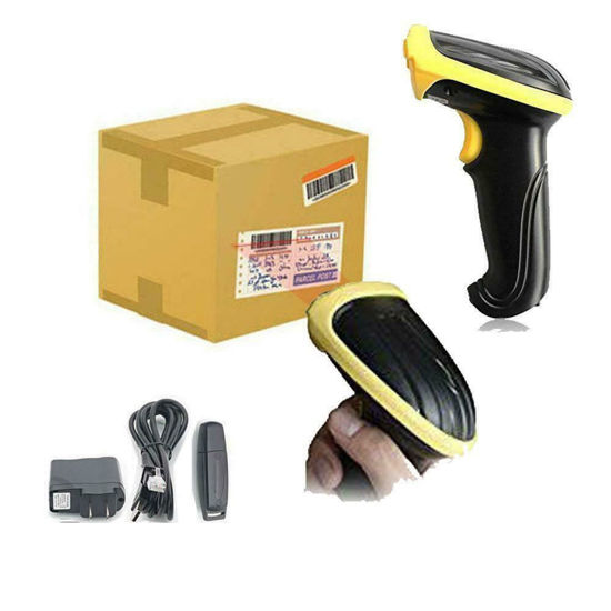 Picture of Laser Barcode Scanner Reader 2.4GHz USB Wireless Wifi Handheld Visible