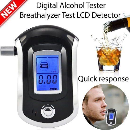 Picture of LCD Digital Police Breath Alcohol Tester Analyzer Detector Breathalyzer Advanced