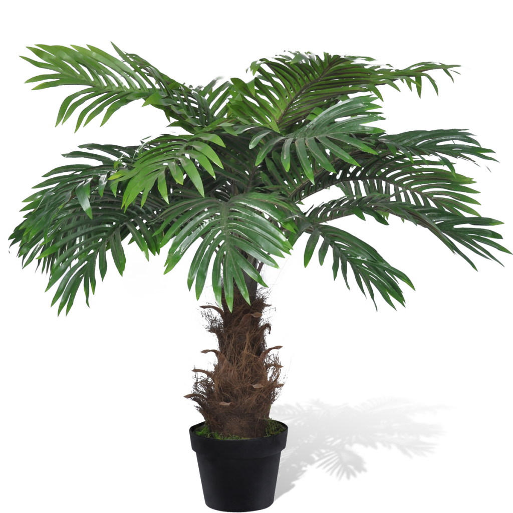 Picture of Lifelike Artificial Cycas Palm Tree with Pot 31""