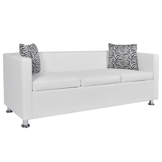 Picture of Living Room 3-Seater Sofa - White
