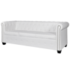 Picture of Living Room 3-Seater Sofa Chesterfield -White