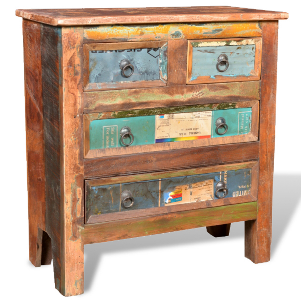 Picture of Living Room Cabinet with 4 Drawers - Reclaimed Wood