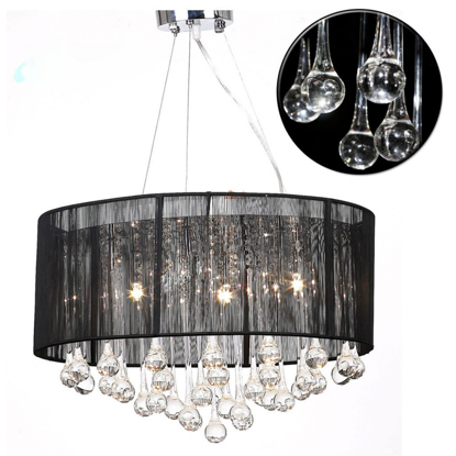 "Picture of Living Room Chandelier 18"" - Black"