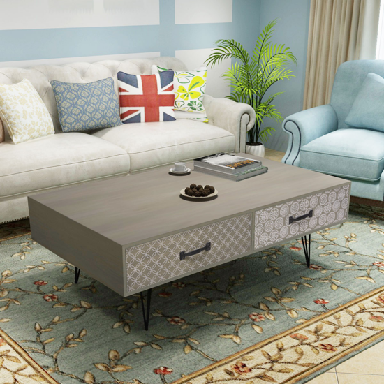 "Picture of Living Room Coffee Table 39.4""- Gray"