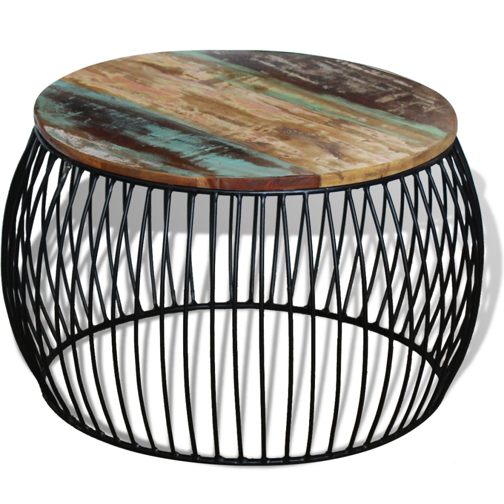 Picture of Living Room Coffee Table Round - Reclaimed Wood