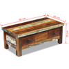 Picture of Living Room Coffee Table with Drawers - Reclaimed Wood