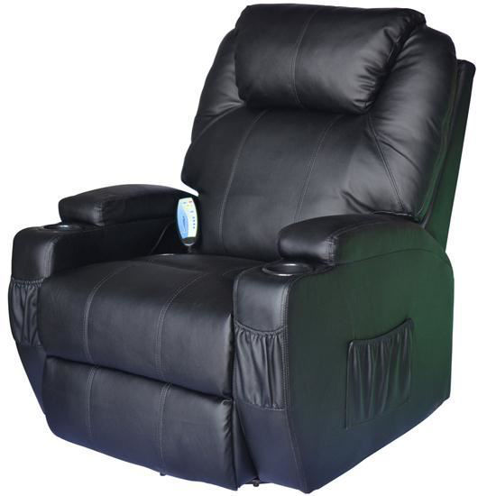 Picture of Living Room Recliner Massage Chair Heated - Black