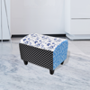 Picture of Living Room Country Footstool Ottoman - Patchwork