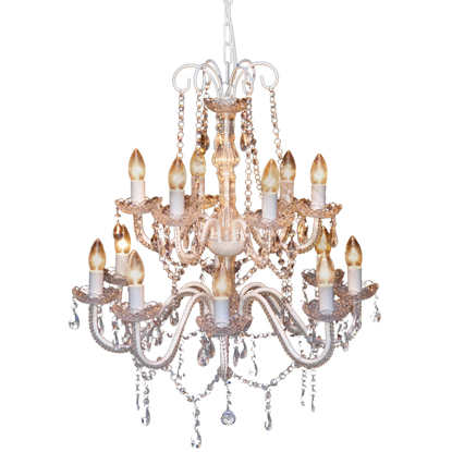 Picture of Living Room Crystal Chandelier - White