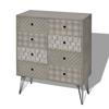 Picture of Living Room Sideboard With 8 Drawers - Gray