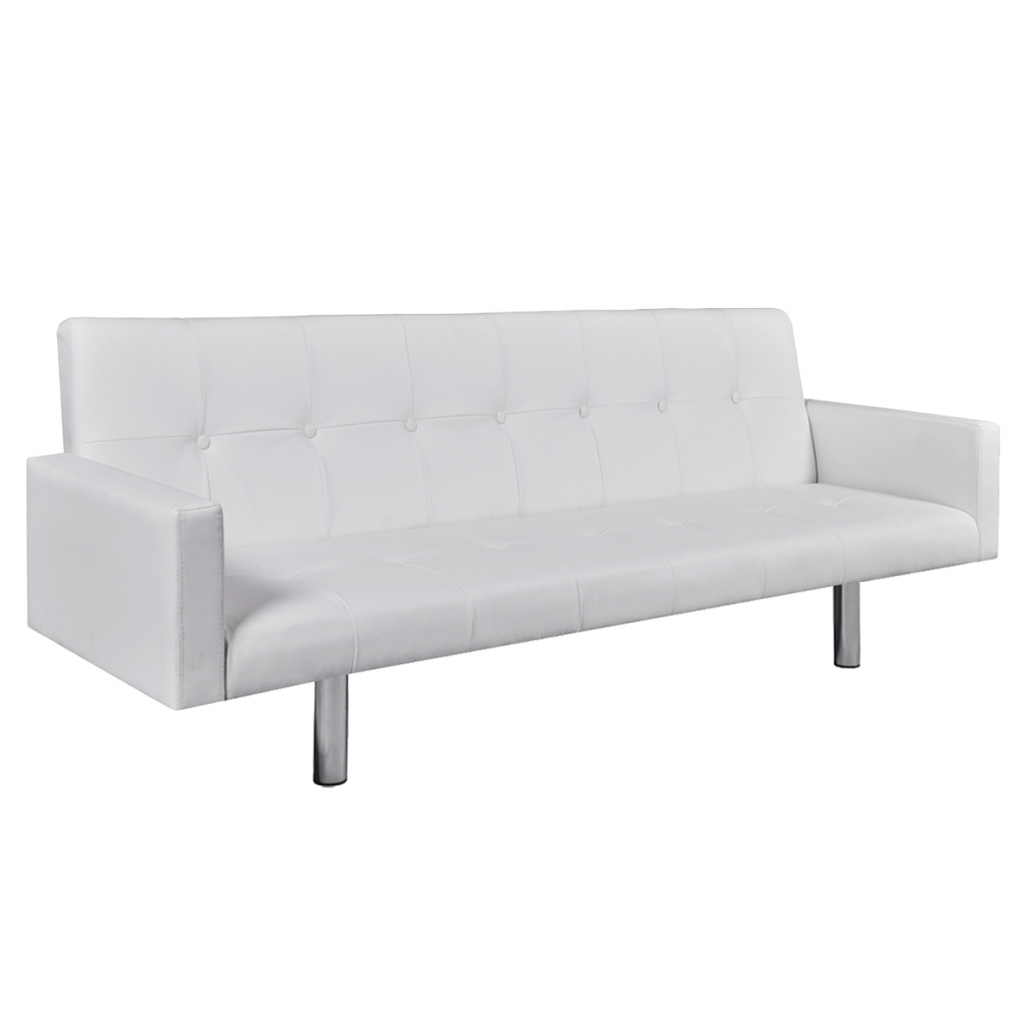 Picture of Living Room Sofa Bed with Armrests - White