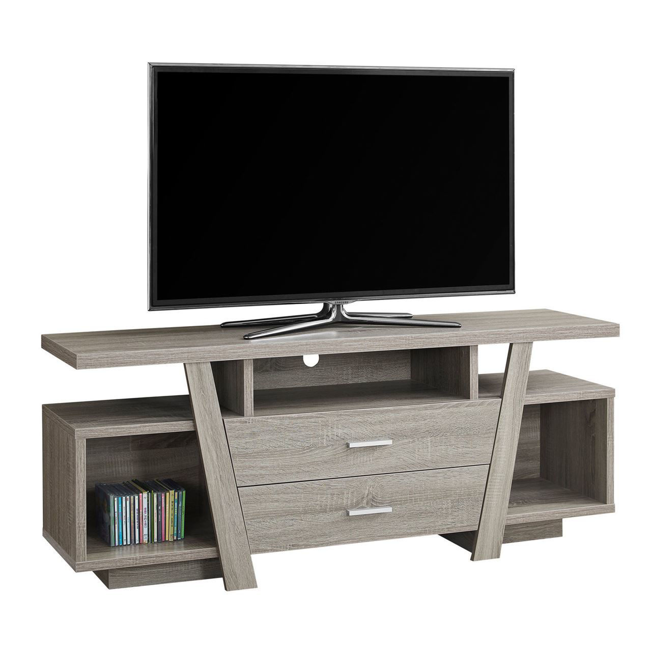 """Picture of Living Room TV Stand with 2 Storage Drawers - 60"""""""
