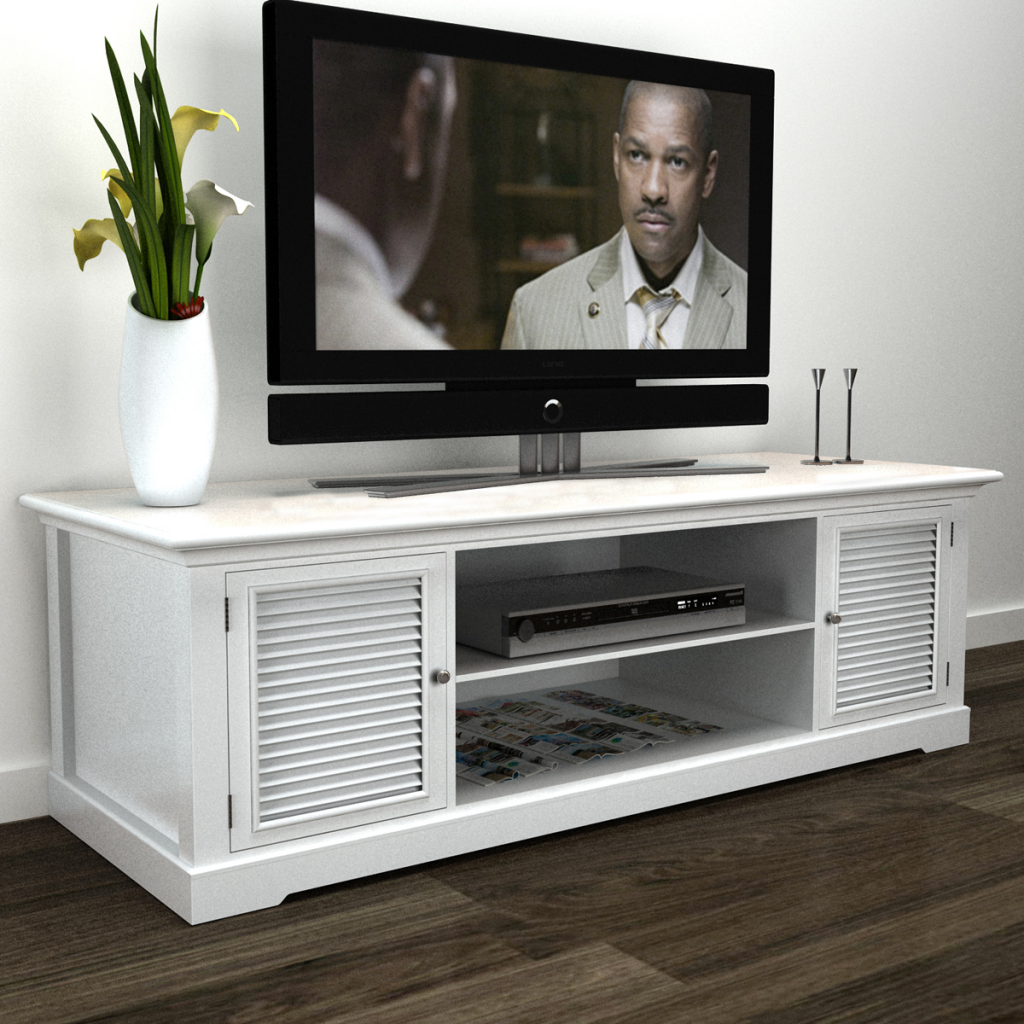 Picture of Living Room Wooden TV Stand - White