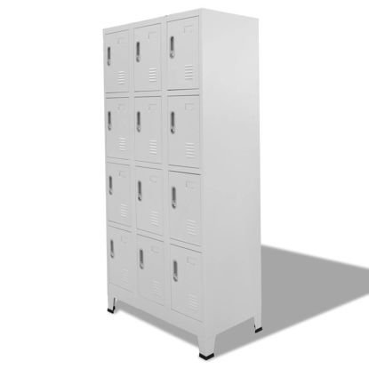 Picture of Locker Cabinet Storage with 12 Compartments 35""