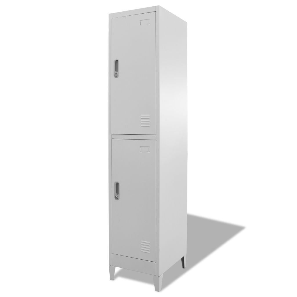 """Picture of Locker Storage Cabinet with 2 Compartments 15"""""""