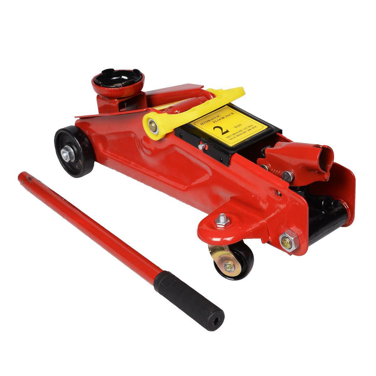 Picture of Mini Red 2 Ton 4000 lbs. Hydraulic Floor Jack Lift Tool on Wheels